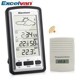 Station Wireless Controllers Australia - Excelvan Digital Wireless Weather Station Monitors Indoor & Outdoor Humidity Temperature Backlight Garden Weather Station <$18 no tracking