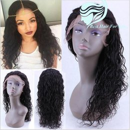 Virgin Indian U Part Wig Canada - 8A Brazilian Curly Full Lace Human Hair Wigs Glueless Lace Front Wig Unprocessed U Part Wig Virgin Hair For Black Women