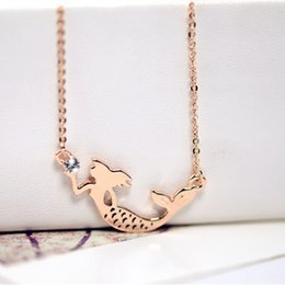 Gold mermaid jewelry dhgate uk wholesalethe little mermaid necklace in jewelry for women the rose gold plating necklaces free shipping aloadofball Gallery