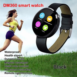 smart watch samsung NZ - DM360 Smartwatch Digital Bluetooth Smart Watch 2016 Wristwatch Wearable Devices For iphone Samsung Android Phone Heartrate Monitor Pedometer