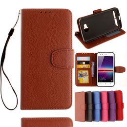 Iphone Ii Canada - Strap Litchi Wallet Leather Pouch Case For Iphone 7 Plus 7G Huawei Ascend P9 PLUS Honor 5X 5C Y3 Y5 Y6 II 5A Y625 TPU Stand Card Photo Cover