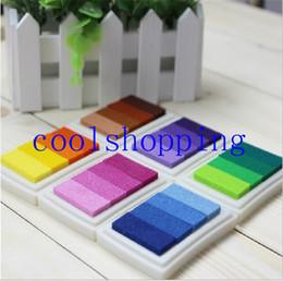 Scrapbooking ink padS online shopping - Homemade DIY Gradient Color ink Pad Multicolour Inkpad Stamp Decoration Fingerprint Scrapbooking Accessories