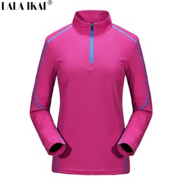 coolmax cycling Australia - Wholesale-Outdoor T-Shirts Breathable Quick Dry Women'S Sport Tees Coolmax Long Sleeve Hiking T Shirts Cycling Training Tshirts HWD0040-5