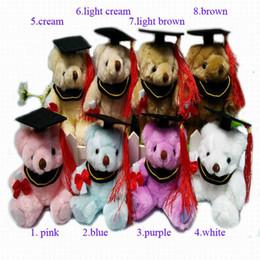 "$enCountryForm.capitalKeyWord Canada - 14.5CM(5.7"") Plush Joint Graduation Teddy Bear doll Stuffed Toys Urso De Pelucia -Diploma Graduation Gift For Students 8color 20pcs lot"