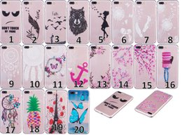 Discount feather flowers - Clear Flower Soft TPU Case Henna Paisley dandelion Lover Floral Dreamcatcher Feather Gel Skin For Iphone 7 I7 Plus Galax