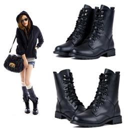 Discount Short Black Combat Boots Women | 2017 Short Black Combat ...