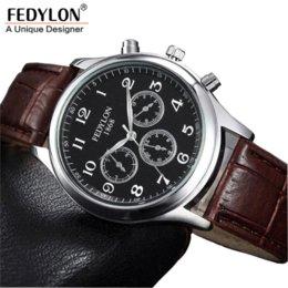 Venta al por mayor de Moda Casual Mens Relojes Marca de Lujo de Alta Calidad de Cuero de Negocios de Cuarzo Reloj Hombres Impermeable Reloj Relogios masculino