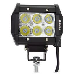 1pcs 4 pouces 18W 6 LED Barre de lumière de travail LED Barre de conduite lampe de brouillard pour camion tracteur hors route SUV ATV Jeep Spot / faisceau d'inondation 4WD 4x4 12V 24V