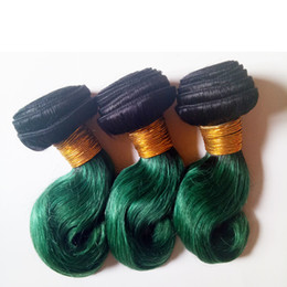 $enCountryForm.capitalKeyWord NZ - Brazilian Virgin Hair Body Wave good ratio,less shaot hair,no dry,full and thick healthy end Unprocessed Omber Indian hair 1B green