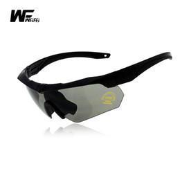 05fcfbedfc Weifei 3 Lens ess CROSSBOW Goggles Ballistic Military Sport Men Sunglasses  Army Bullet-proof uv400 sport sunglass mens outdoors