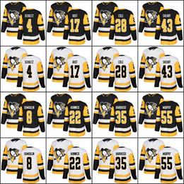 Men s 2018 season Pittsburgh Penguins 4 Justin Schultz 8 Brian Dumoulin 17  Bryan Rust 22 Matt Hunwick Authentic jersey Black Home White 0dad0bc6b