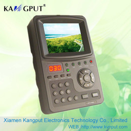 venda por atacado Teste de sinal DVB-S2 Satélite Handheld KPT968G do inventor de 3,5 polegadas