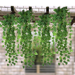 $enCountryForm.capitalKeyWord NZ - 50pcs 1.7M Long Green Artificial Ivy Vine Leaves Garland Plants Rattan Fake Foliage Home Wedding Party Decoration 2 Styles