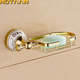 new golden finish wall mounted soap basket soap dish soap holder bathroom accessories bathroom furniture toilet vanity yt 10290