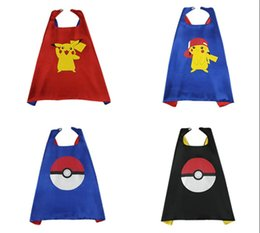 poke go pikachu double layer cape halloween children kids cosplay pokeball capes halloween party costumes for kids clothes clothing pokemon halloween