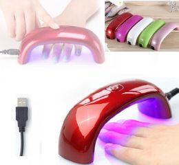 rainbow nail polish 2019 - nail dryer nail gel polish mini nail dryer LED UV lamp for curing dryer curing lamp led rainbow lamp discount rainbow na