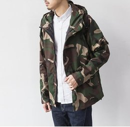 Camo Campements Pas Cher-Automne-Marque Skateboard Harajuku Sport Camouflage Vestes Outdoor Hommes Causal capuche Camping Outdoor Coat Mode Camo Vêtements Homme