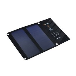 Laptop Cellphone NZ - 5V 15W Foldable Solar Panel Charger Portable Solar Battery Dual USB port Solar Charger for iPhone Samsung Cellphone Tablet PC