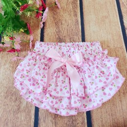 Volants De Coeur Pas Cher-Everweekend Girls en forme de coeur Ruffles roses PP Pantalons Western Fashion Lovely Baby Clothing Pantalons Sweet Toddler Summer