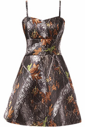 modern dress patterns free UK - Free Shipping Straps Short Camo Prom Dresses 2016 New Styl Custom Make Size 0 or Plus Sizes Evening Bridesmaid Gowns