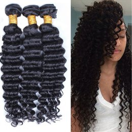 Brazilian Remy Hair Weave Bundles Canada - Hot Sale Brazilian Malaysian Hair Weave Deep Wave 100% Unprocessed Virgin Hair Bundles Brazilian Malaysian Remy Human Hair Extensions