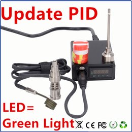 $enCountryForm.capitalKeyWord NZ - E nail wholesale e nail box Digital Update PID of green light LED Dab dnail Titanium Nail Domeless WAX Vaporizer e nail portable