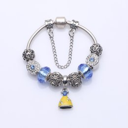 Dangling Chain NZ - Fashion Beaded Charm Bracelets with Brilliant Pave Charms & Dress Dangles DIY Snake Chain Bangle Bracelets Women Party Jewelry BL255