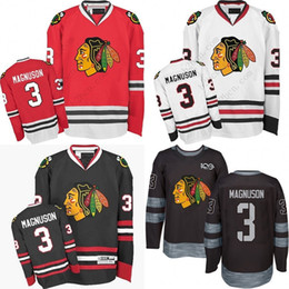 201440a2274 Men's Chicago Blackhawks #3 Keith Magnuson 2017 Winter Classic Premier Red  White Away Black 1917-2017 100th Anniversary Jersey