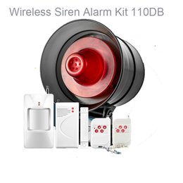 personal security alarm siren Canada - Alarm Host and Siren in One Device 120db flashing lights Wireless DIY Easy Operate Home Security