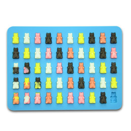 mini molds Canada - Silicone Mini Gummy Bear Molds For Chocolate & Candy Making,non-stick Silicone Ice Cube Tray With 5ml Pipette