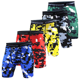 surf compression shorts UK - Wholesale-Newest Fitness Running Sport Shorts Men Gym Tights Compression Shorts Bermuda Surf Basketball Training Camouflage Short Pants