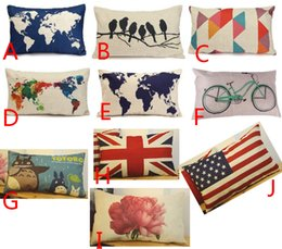 World map cushion online world map cushion covers for sale pillow case 3050cm rectangle pillow case cover world map pattern retro cushion pillowslip cover throw waist style home sofa car decoration gumiabroncs Images