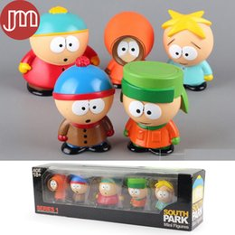 $enCountryForm.capitalKeyWord Australia - New 5 PCS South Park Anime Action Figure Toys Stan Kyle Eric Kenny Leopard Mini 6cm Display Box Baby Dolls Juguetes Brinquedos
