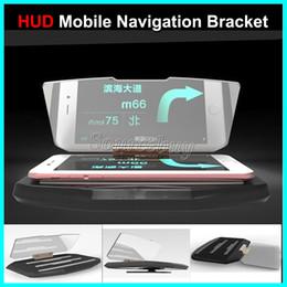 $enCountryForm.capitalKeyWord Australia - New Car HUD Head Up Display Mobile Navigation Bracket Universal HUD For Cell phone Mounts GPS Reflector Car Holder Convenient For Driving