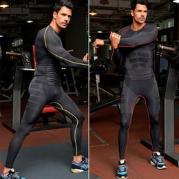 Bicycle Underwear Men Australia - Wholesale-Outdoor Sport Mens Thermal Underwear Long Johns Men Long-sleeve Quick-drying Fitness Bicycle Yoga Running tight sports sets