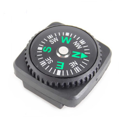 Camping Bracelets Canada - 50PCS Portable MINI Precise Compass for Paracord Bracelet Camping Hiking North Navigation