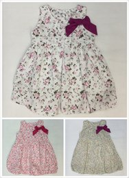 $enCountryForm.capitalKeyWord Canada - Newest Baby Dresses Children Printed Flower Dress Cheap Price The Little Baby Girls Cute Dress Girls England Style Skirt Outside Clothes