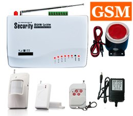 Gsm Door Alarm NZ - Wireless Home Security Burglar GSM Alarm System (Built-in battery) Auto Dialer SMS SIM Call Infrared Motion alarm