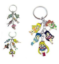 Figure Classics Canada - Wholeslae 10Set Anime Classic Cartoon Character Cute Sailor Moon Keychains Metal Figures Pendants Key Chains Popular Decoration Gift