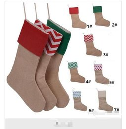 $enCountryForm.capitalKeyWord Canada - 12*18inch 2017 New canvaschristmas New Christmas stocking gift bags Xmas stocking Christmas decorative socks for kids candy bags party
