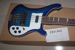 Vente en gros Best8guitar Vente en gros de haute qualité Rick 4003 Blue 4 cordes guitare basse électrique livraison gratuite