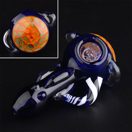 Smoking Mini Hammer Pipe Canada - 3.5in GLASS PIPE Honeycomb head bowl Spoon tobacco pipes for Smoking Mini Hand Pipes Hammer Pipes Wholesale T22