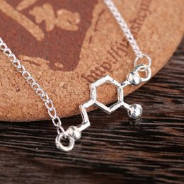 $enCountryForm.capitalKeyWord NZ - Newest Dopamine Molecular Structure necklace alloy hook Chemical Molecular pendant Necklaces Women Silver necklace jewelry