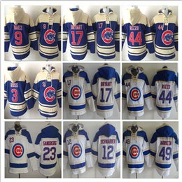 af43ba601 ... Schwarber 2017 Mens Chicago Cubs Hoodies Wear 17 Kris Bryant 44 Anthony  Rizzo 9 Javier Baez 12 ...