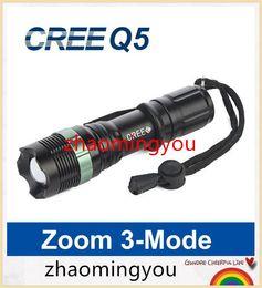 Flashlight Bike Q5 Canada - Mini LED Flashlight 2000LM Lanterna LED Torch Light CREE Q5 Zoomable 3-Modes lantern penlight Bike Light For AAA 18650 Battery
