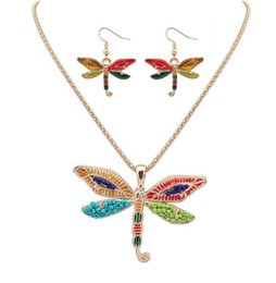 $enCountryForm.capitalKeyWord UK - 30set Fashion Ethnic Jewelry Sets Rainbow butterfly Pendant Necklace Drop Earrings Gold Silver Colorful Drip Resin Charm Gift For Women F413