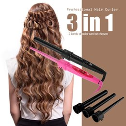 $enCountryForm.capitalKeyWord Canada - New Hair Curler Roller 3 in 1 Functions Cylindrical 3 Curling Irons Set Professional Perm Hair Curling Instrument