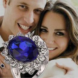 $enCountryForm.capitalKeyWord Canada - Imitation Oval Cabochon blue gem crystal ring sapphire ring Big Surface United Kingdom Britain UK Princess Kate Diana Wedding Rings j241