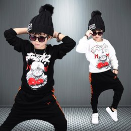 $enCountryForm.capitalKeyWord Canada - Girls Boys Cat King Fighters Tracksuit Kids Clothing Sets Star Sky Dot Tops Harem Pants Children Navy black for 4-12 Ages Hip-hop Sport Suit