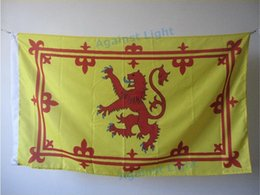 Wholesale Scottish Rampant Lion Flag x cm Polyester Royal Standard of Scotland Banner